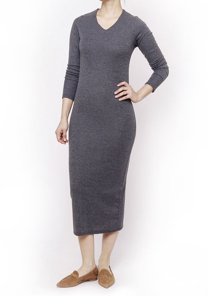 Basic Dress- dark grey
