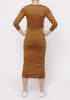 Basic Dress- brown