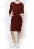 Noam Dress- maroon