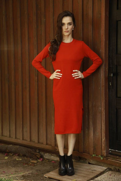 Lin Dress- red