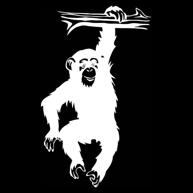 Save the Chimps Car Decal
