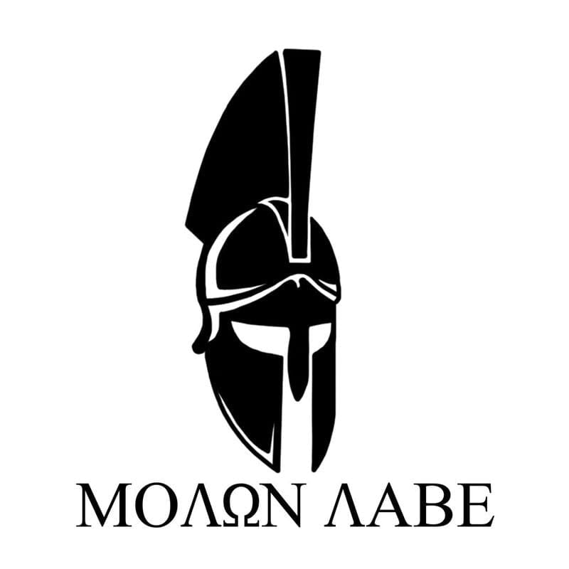 MOLON LABE Spartan Car Decal