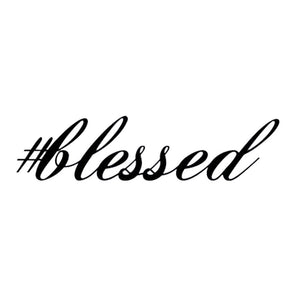 """#blessed"" Car Decal"