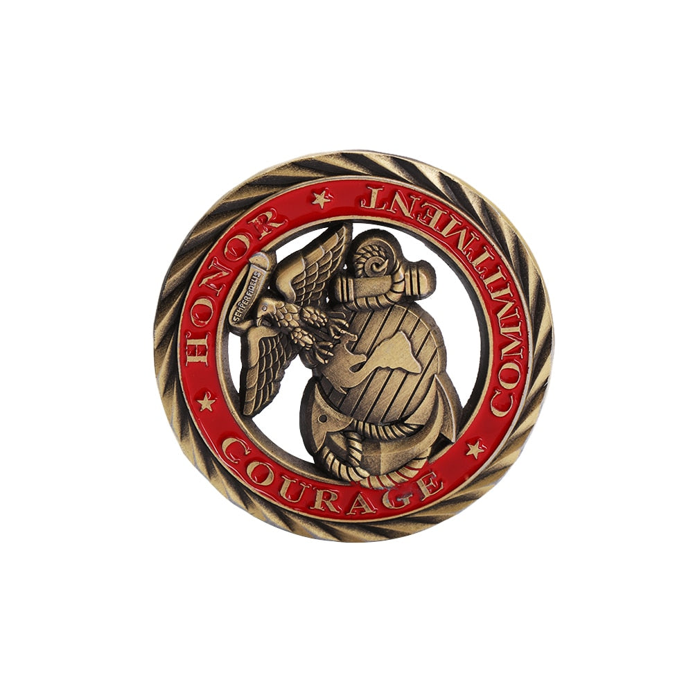 U.S. Marine Corps Core Values Challenge Coin
