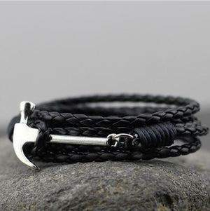 Multilayer Hammer Leather Bracelet