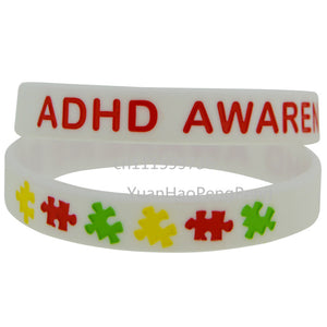 ADHD Awareness Silicone Wristband
