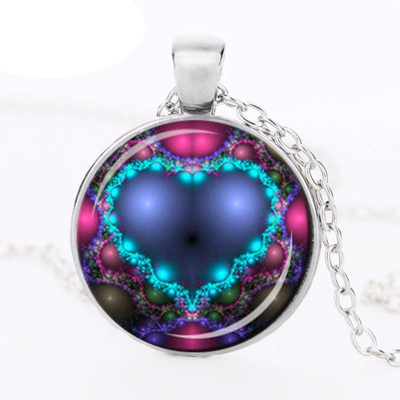 Pediatric Stroke Awareness Round Glass Necklace