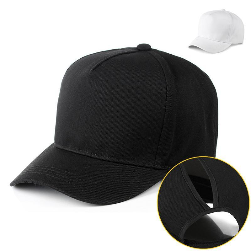 Short Visor Ponytail Baseball Cap