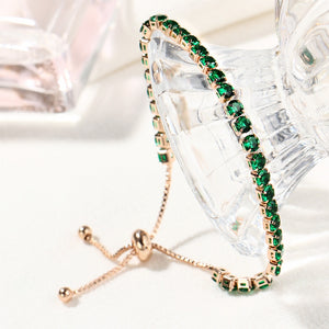Anal Cancer Awareness Green Shining Crystal Bracelet