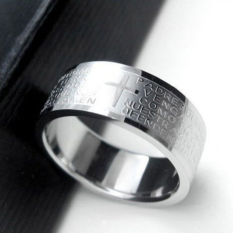 Safety Prayer Silver Correctional Officer Ring