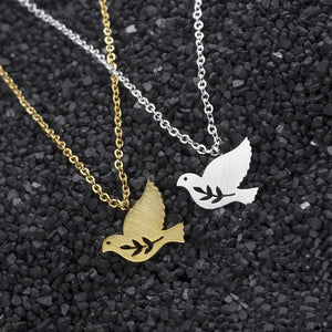 Dove Peace Stainless Steel Necklace