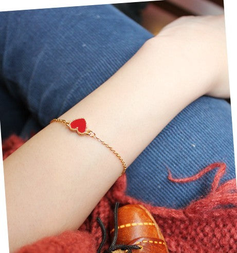 Red Bijoux Heart Bracelet