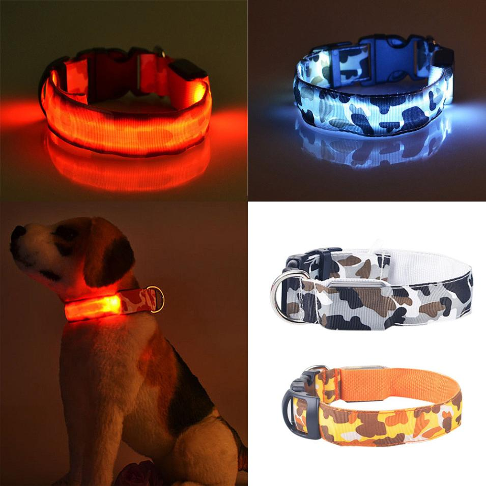 Glow in the Dark Camo Dog Collar