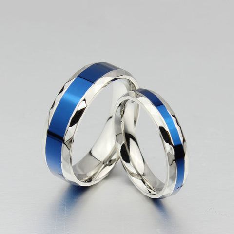 police wedding rings blue line officer ring aspire gear 6708
