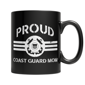 Proud Coast Guard Mom Mug