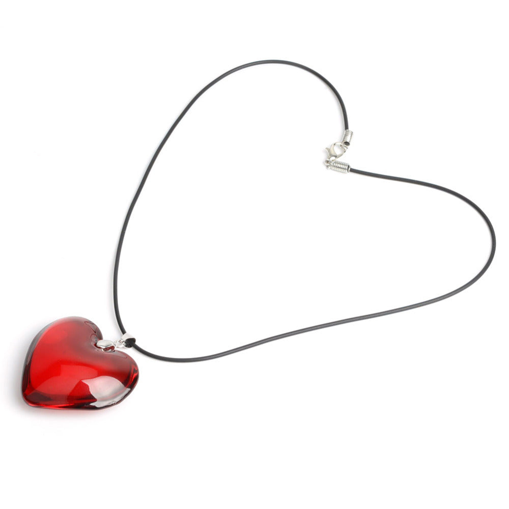 Red Heart Crystal Necklace