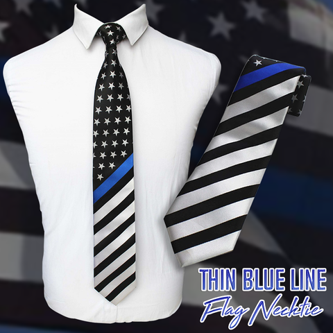 Thin Blue Line Flag Necktie