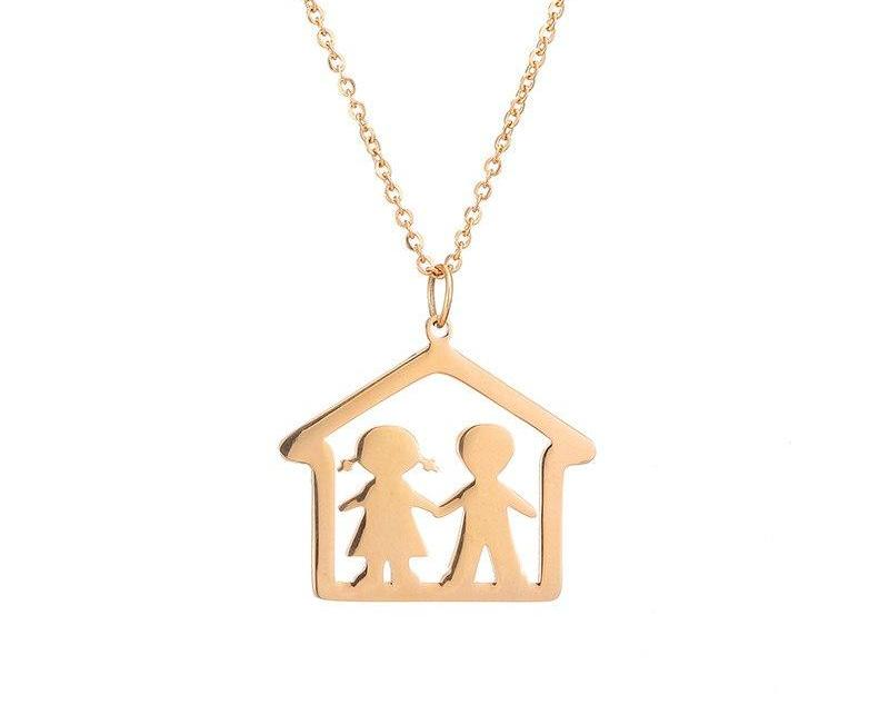 Our Home Boy and Girl Necklace