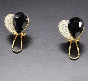 Half Black Heart Accident Awareness Earrings