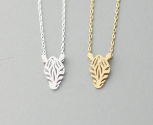 Geometric Zebra Necklace
