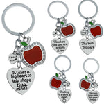 Teacher Appreciation Apple Charm Keychain