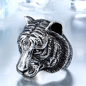 Stainless Steel Calm Tiger Ring