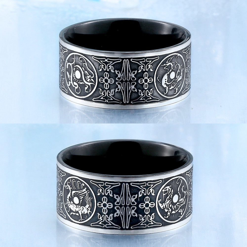 Dragon Viking Ring