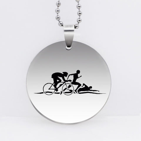 Triathlon Pendant Necklace