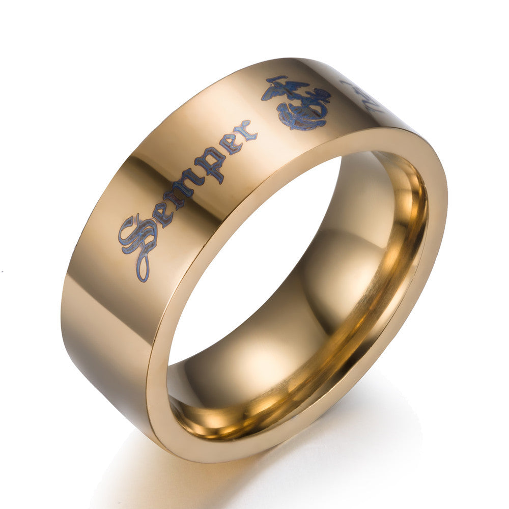 semper fi stainless steel ring aspire gear