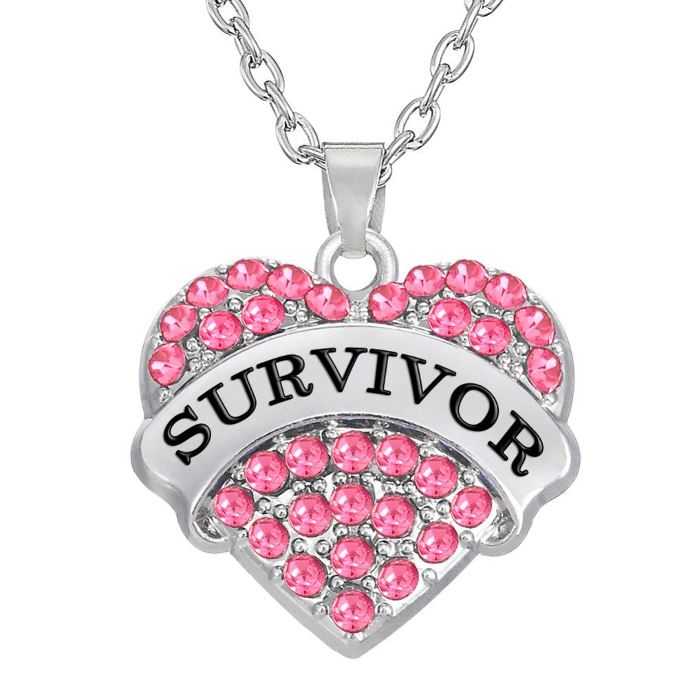 Breast Cancer Awareness Engraved Necklace