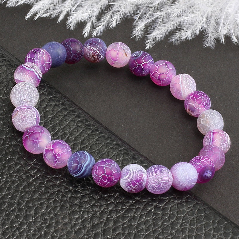 Fibromyalgia Awareness Purple Stone Bracelet