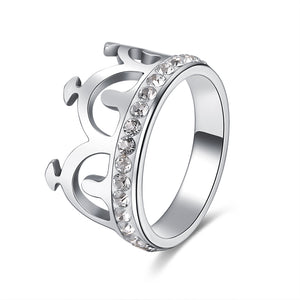 Silver Crown Stainless Steel Ring
