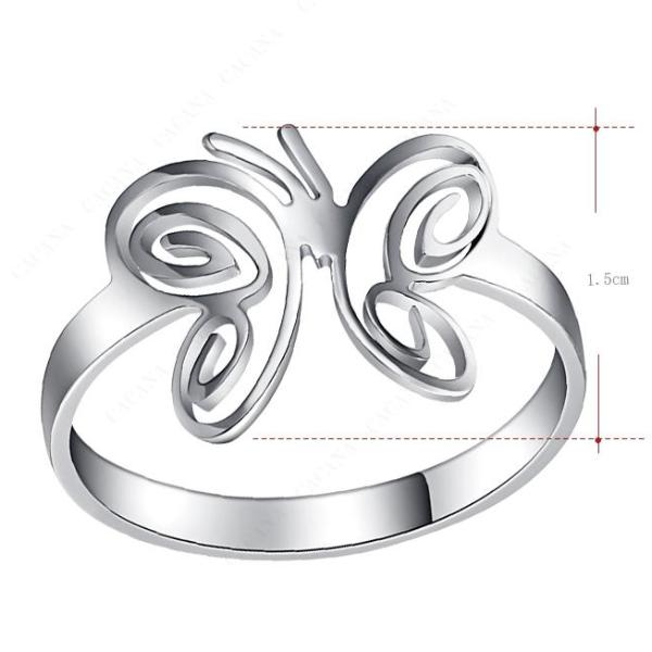 Butterfly Wings Suicide Prevention Stainless Steel Ring