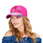 Breast Cancer Awareness Rhinestone Baseball Cap