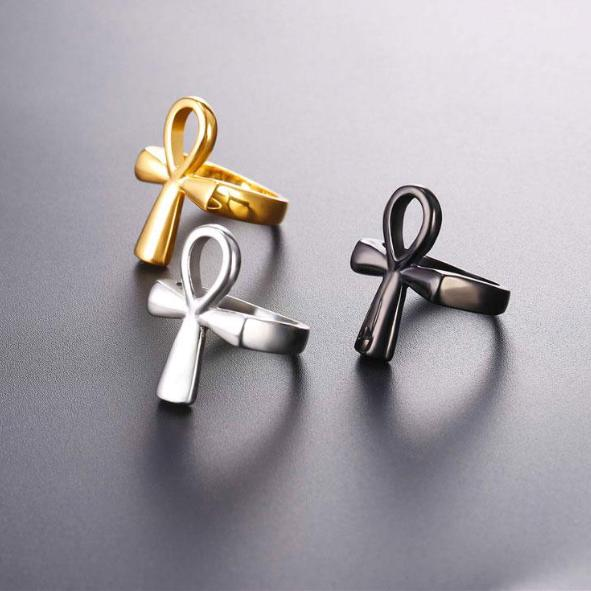 316L Stainless Steel Ankh Ring