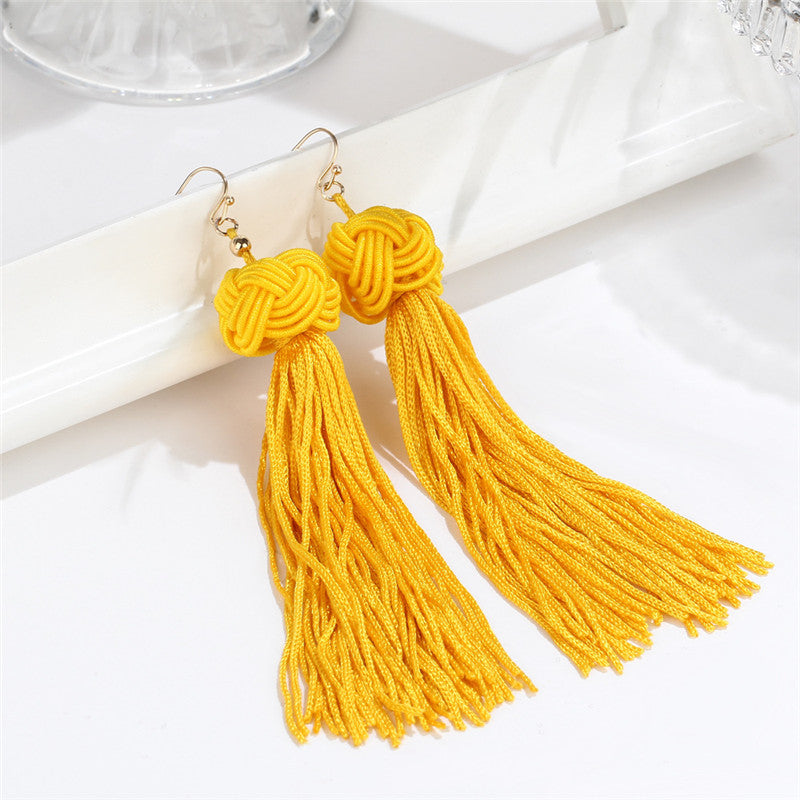 Bladder Cancer Awareness Tassel Earrings