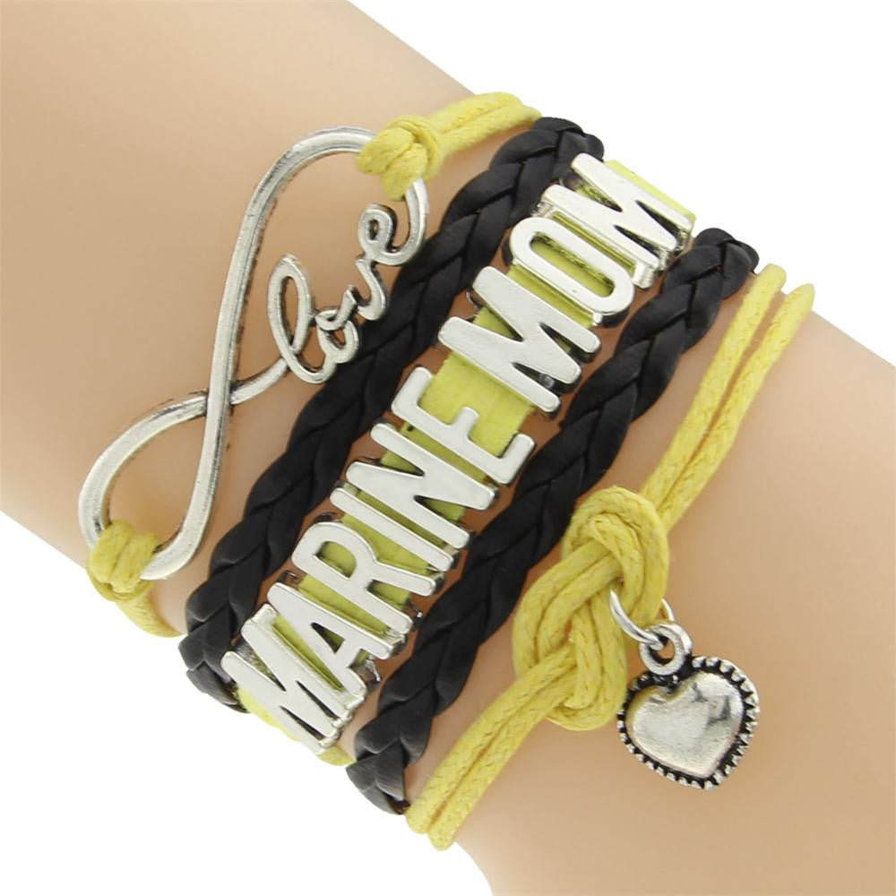 Marine Mom Love Bracelet