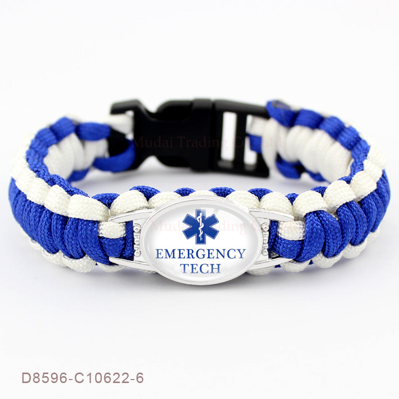 EMT Support Paracord Bracelet