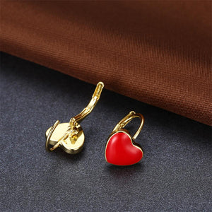 Red Heart Charming Appendix Cancer Awareness Earrings