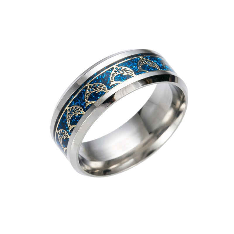 Dolphin Titanium Steel Ring