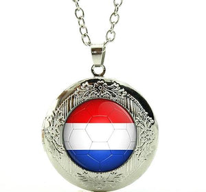 Netherlands Flag Locket Necklace