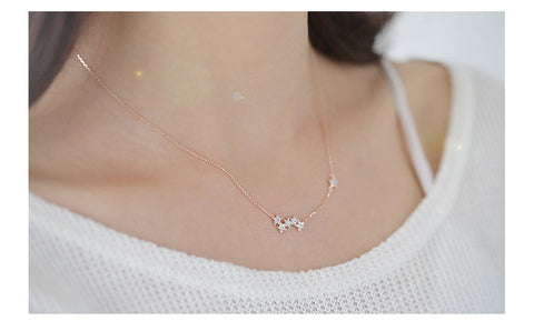 925 Sterling Silver Small Stars Necklace
