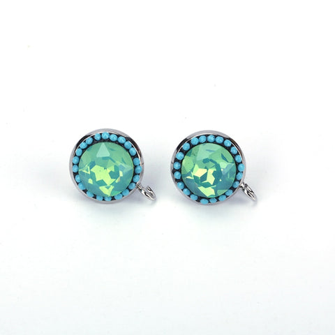 Periwinkle Rhinestone Stud Earrings Offer