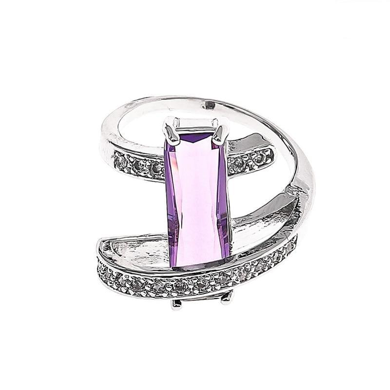 Luxury Purple Crystal Ring