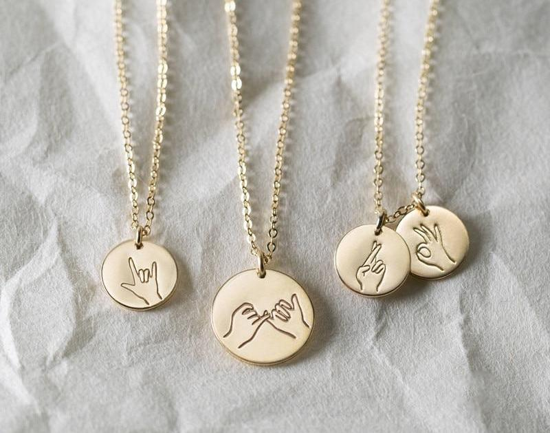 Sign Language Necklace