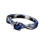 Fancy Crystal Police Support Ring