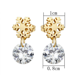 Snowflake Gem Earrings