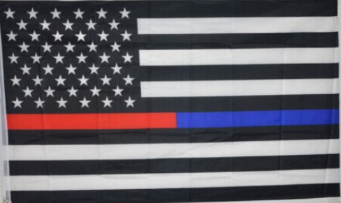 First Responders Red Line / Blue Line Flag