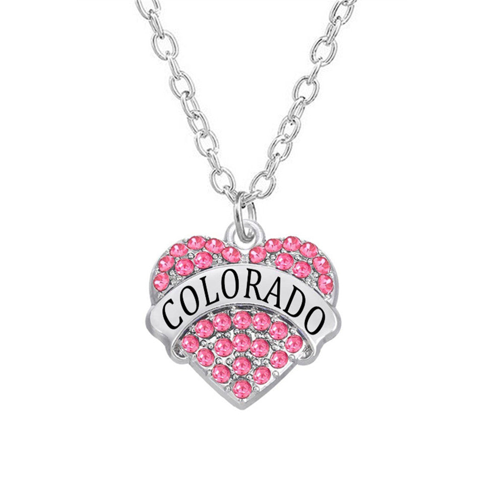 Colorado Crystal Heart Necklace