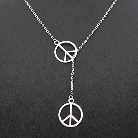Anti-War Double Peace Sign Necklace